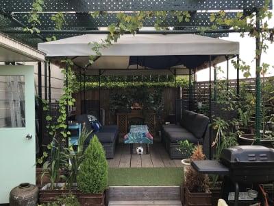 急な雨や強い日差しにも安心なタープを常設 - 屋上スペース Ciel【シエル】 矢川駅1分屋上スペースの室内の写真