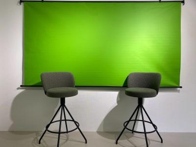 撮影用クロマキーです。 - BUSHIZO上野不忍池スペース 撮影用、会議用スペースの室内の写真
