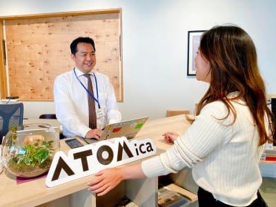 受付 - ATOMica 貸し会議室【3人部屋】の室内の写真