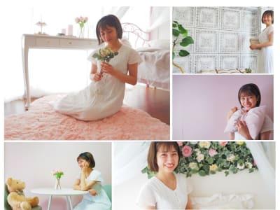 ポートレート撮影におすすめ♡ - DOLLY新大久保 天蓋付きの姫系の撮影スタジオの室内の写真