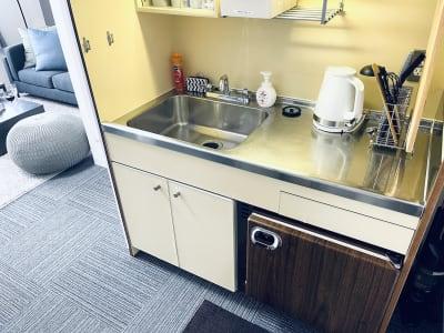 キッチンは広々していて使いやすいです🍳 - SMILE+クラウン福島 パーティスペースの室内の写真