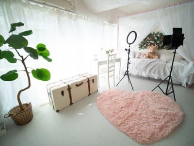 リニューアル記念🌸いまだけ!期間限定で撮影機材のオプション無料📸✨ - DOLLY新大久保 天蓋付きの姫系の撮影スタジオの室内の写真
