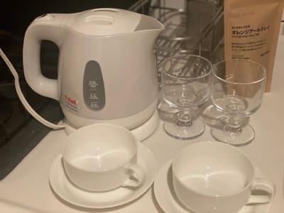 コップ類もご自由にお使いください - 恵比寿西口サロン(スペース) キッチン付きレンタルスペースの設備の写真