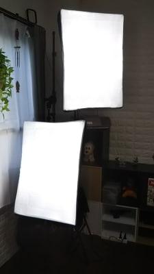 ソフトボックス2つ - アートキャップの写真スタジオ ポートレート撮影レンタルスタジオの設備の写真