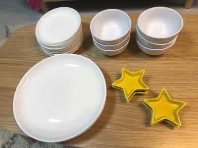 大皿2枚 中皿6枚 お椀6枚 - shin新大阪 パーティースペースの設備の写真