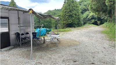 着替え用の小屋があるので、川遊びなどする時にご利用ください。 - 市ノ瀬ベース 那珂川に新スポット作りました♪の室内の写真