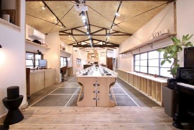 キッチン&会議室|上町サンク 2階スペースの室内の写真