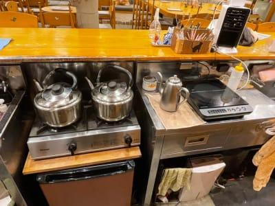 長靴と猫店 朗読会・イベント・料理教室の設備の写真