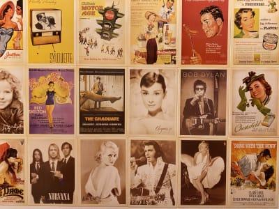 ビンテージな図柄のポストカード。 - アメリカンダイナースタジオ戸越 撮影向きレンタルスペースの室内の写真