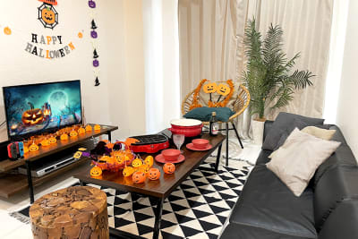 ハロウィン仕様になってます! - レンタルスペース【ルームルーム】 レンタルスペースルームルームの室内の写真