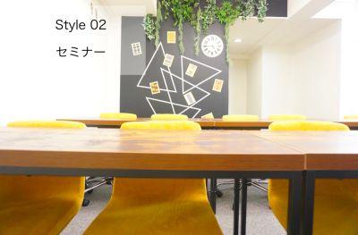 【リーフ会議室】 WIFI/プロジェクター無料の貸し会議室の室内の写真