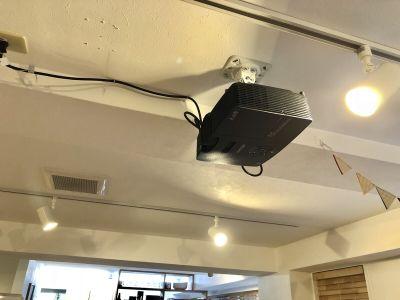 プロジェクター - スタートアップカフェ レンタルスペース、レンタルキッチンの設備の写真