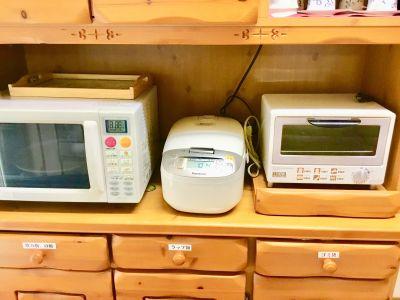 レンタルスペースハウス キッチン付きレンタルスペースの設備の写真