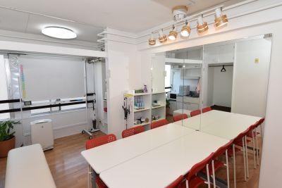 お気軽スペース in 錦 Share8P パウダールーム鏡の室内の写真