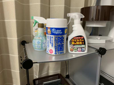 除菌備品取り揃えています。 - おてがる会議室in758 Share8P『スマイル』の設備の写真