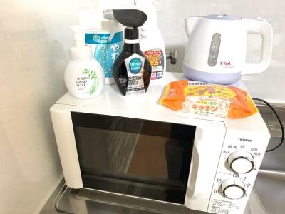 各種除菌備品そろえています。 - お気軽会議室 チサンM第3名古屋 Share8P『ブリック』の設備の写真