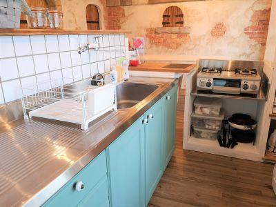Kitchenタブリエ カフェ風キッチンの室内の写真