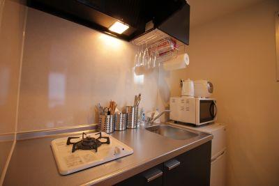 037_MOLE八丁堀 キッチン付きスペースの室内の写真