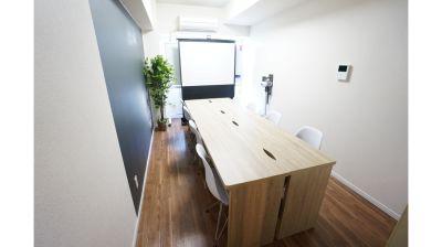 【クレスト会議室】 プロジェクタ無料の貸し会議室♪の室内の写真