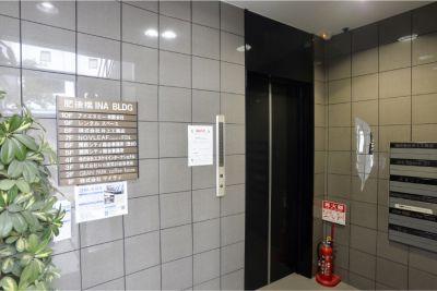 肥後橋INAビル9階 セミナールームの入口の写真