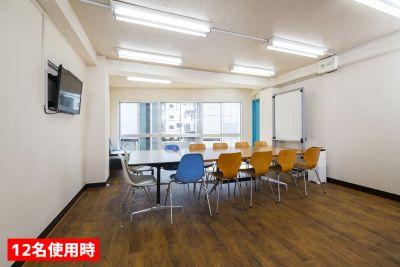 渋谷宇田川スタジオ301 高速WiFi!20名着席スペースの室内の写真