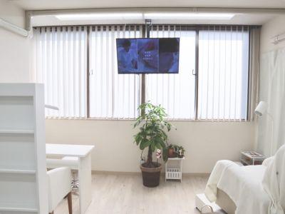 テレビ見られます - ネイルサロンLiana ネイルスペースの設備の写真