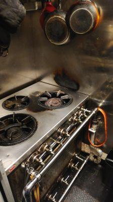 ガスコンロは3口ございます。 - バルボラッチョ秋葉原店 貸切パーティレストランの設備の写真