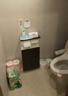 トイレ内部(1階のみ) - レンタルミニスペース フクリズム 1階 多目的スタジオの設備の写真