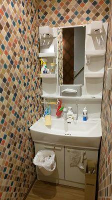 洗面所(2階) - レンタルミニスペース フクリズム 2階の小部屋の設備の写真