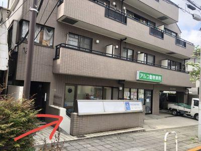 駒沢令劇STUDIO 稽古場 ダンススタジオの入口の写真