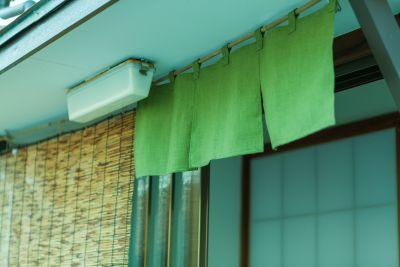 アイビーカフェ府中 昭和レトロ・昭和の浴室・おふろ席の入口の写真