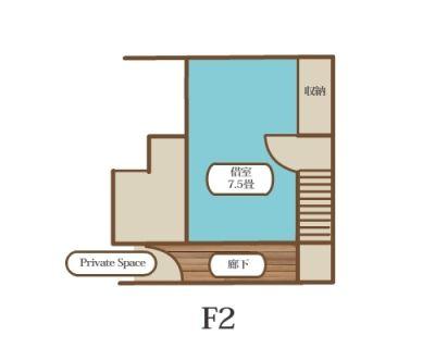 レンタルスペースJikuスタジオ F2 個室スペースの室内の写真