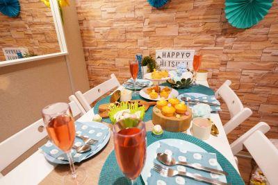 誕生会、ママ会、女子会 - 渋谷ひつじハウス プライベートスペース!パーティーの室内の写真