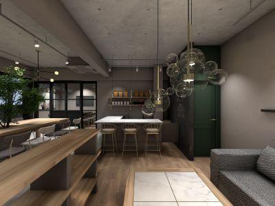 カフェ@上野毛 DESIGN CAFEの室内の写真