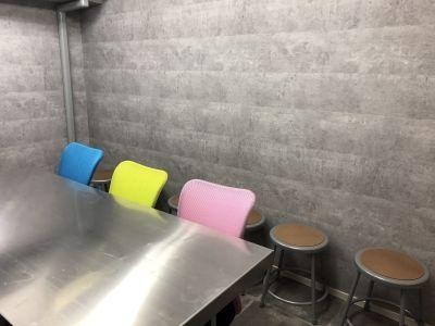 丸椅子があるので荷物があっても安心♪ - SSS渋谷 SSS渋谷 レンタルスペースの室内の写真