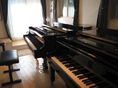 【2台のグランドピアノを備えた防音室】ピアノなどの設備利用料込。練習に最適です。 - MOピアノスタジオ