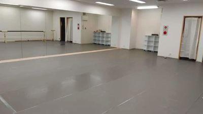 レッスンで大好評!広いスペース!一面鏡張り!バレエ用リノリウム!バー、音響設備、ヨガマット、柔らかい床!  - AKK BalletStudio