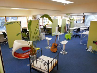 仕事効率アップするテレワークレンタルスペースです。 - グリーンビル「グリーンオフィス」