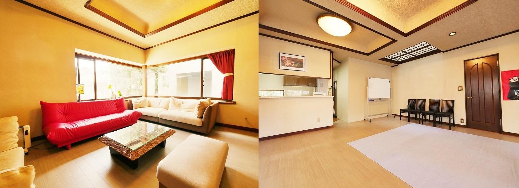 祐天寺アトリエ ゆったり30畳+キッチンの室内の写真