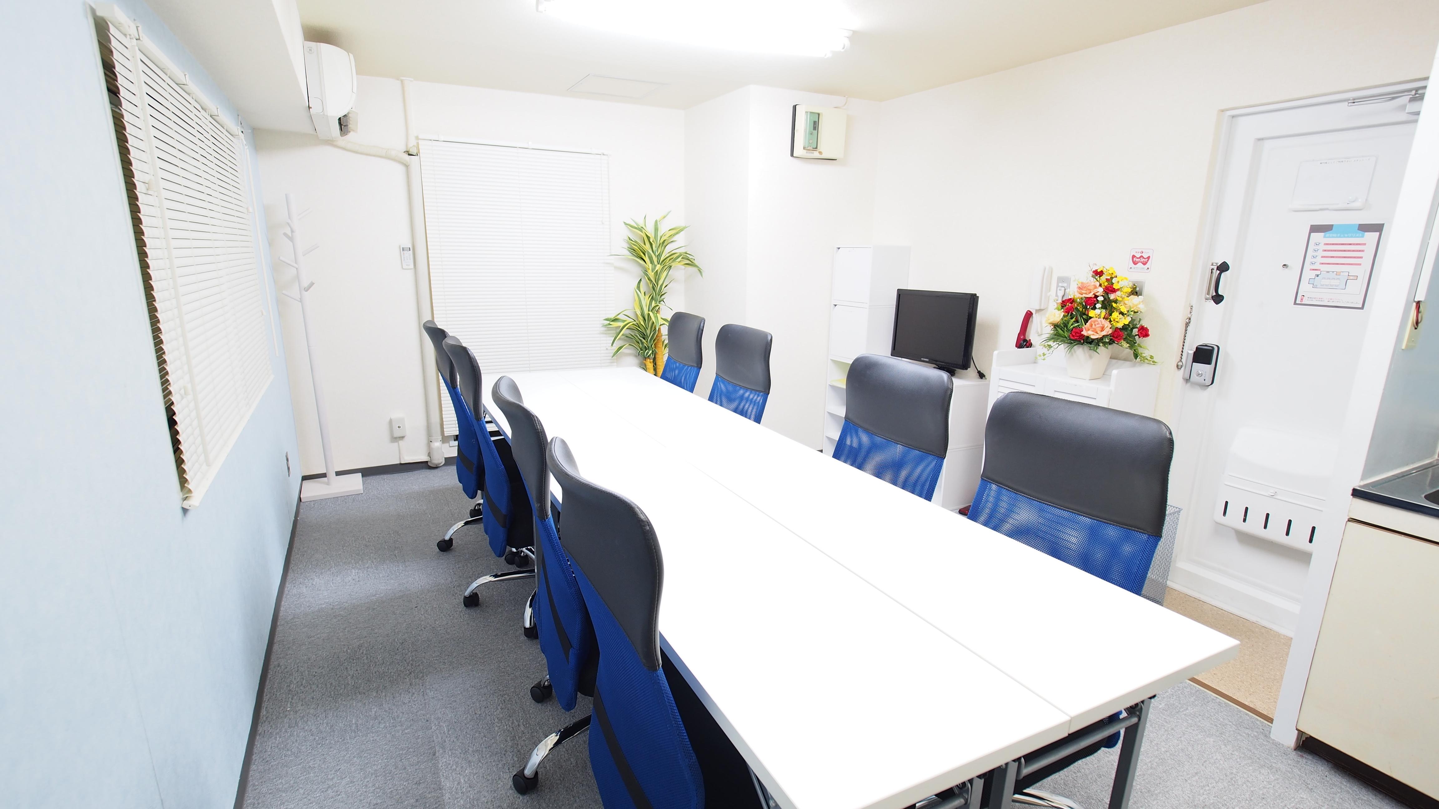 マリーナをイメージしたレンタルスペース - 【マリーナ】新宿の貸し会議室 WiFi大型モニタホワイトボードの室内の写真
