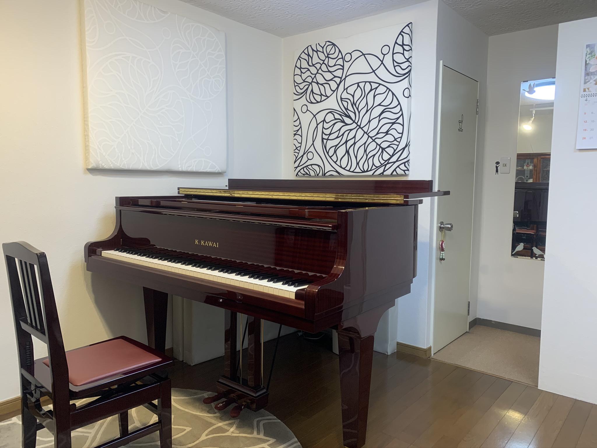 K.KAWAI  GE-20 レスロー弦に張り替え - Sheila M Space グランドピアノ・多目的スペースの室内の写真