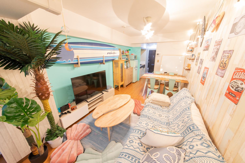 129_ザカリフォルニアン五反田 キッチンスペースの室内の写真