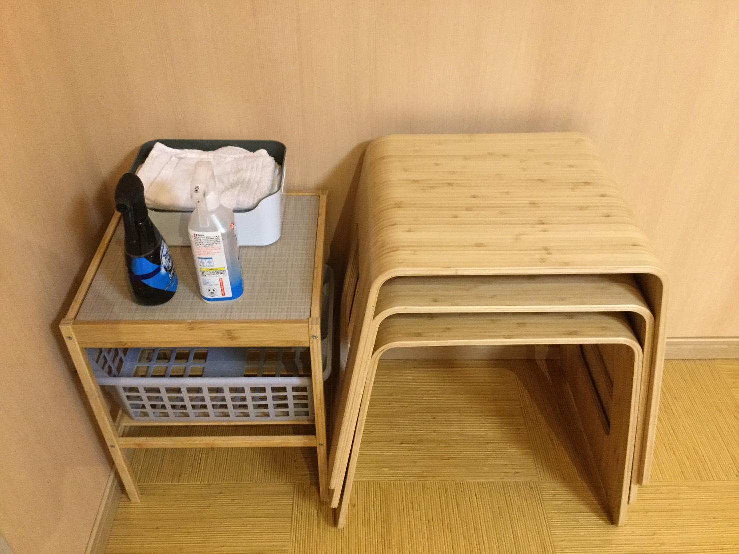 補助椅子と清掃道具です - レンタルルーム 馬車道茶会室 会議室 瞑想 テレワークの室内の写真