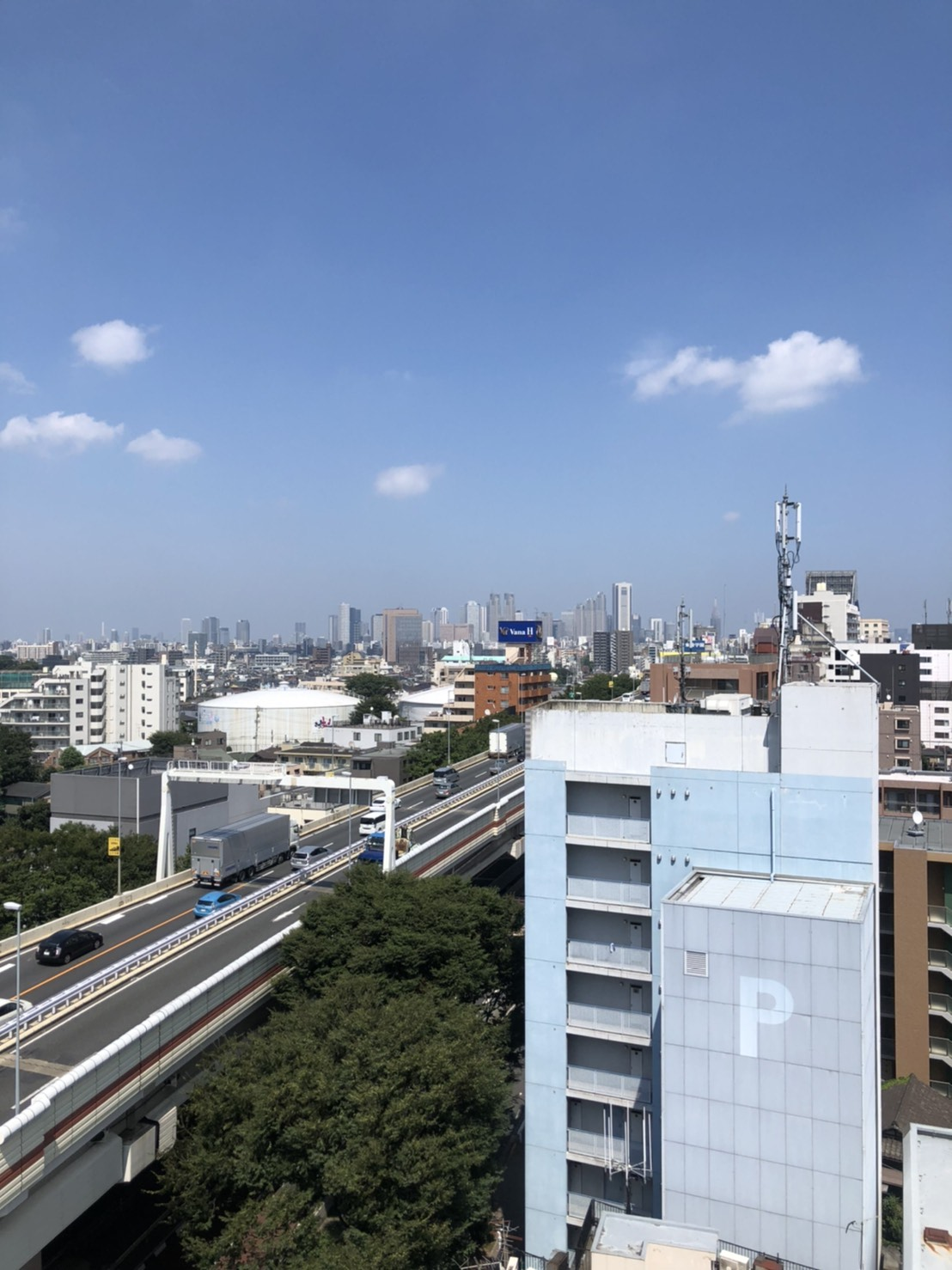新宿方面 - 都内 マンション屋上 世田谷区 マンション屋上スペースの室内の写真