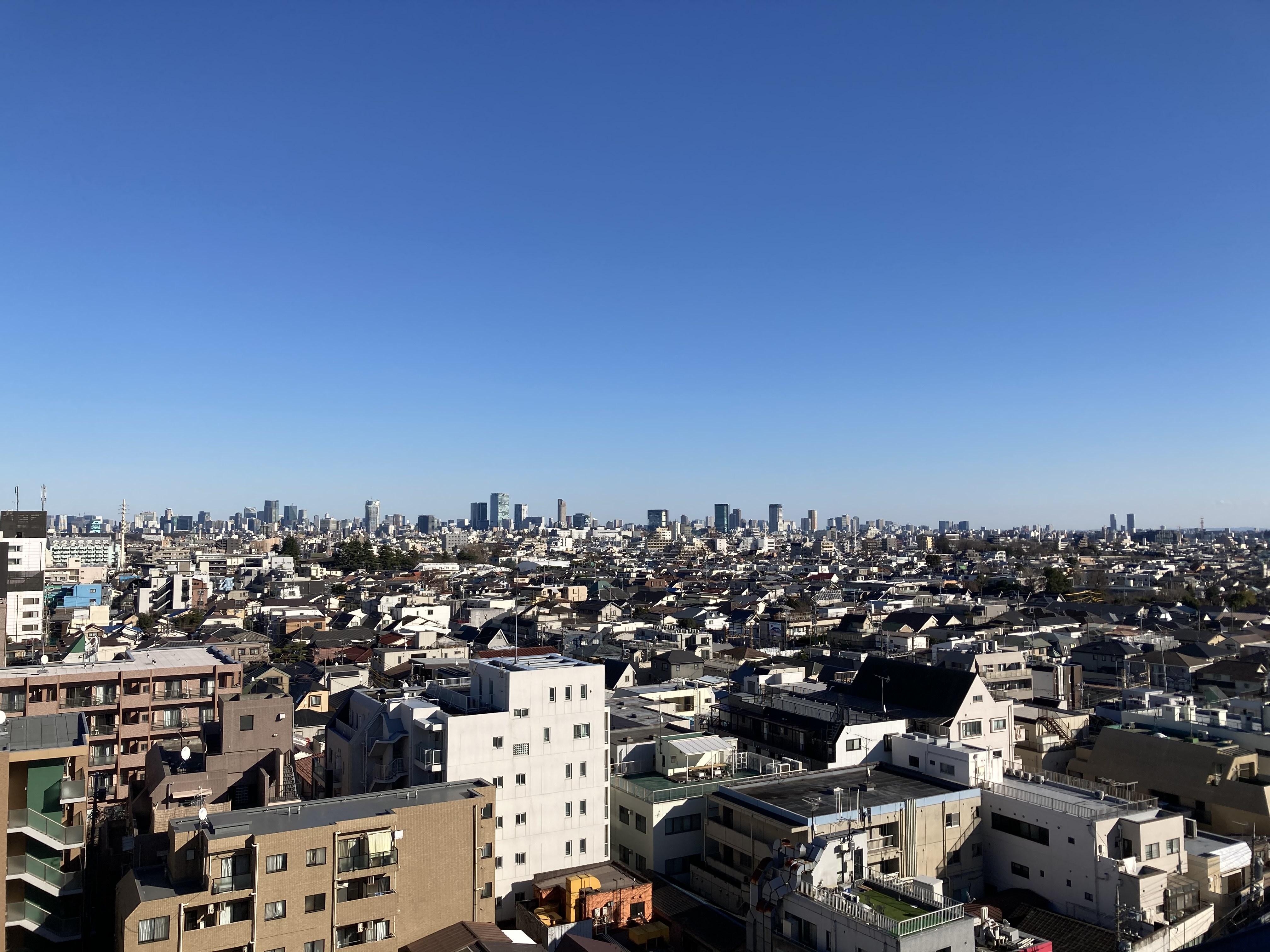 抜け感抜群! 都会の町を一望できます。 六本木方面 - 都内 マンション屋上 世田谷区 マンション屋上スペースの室内の写真