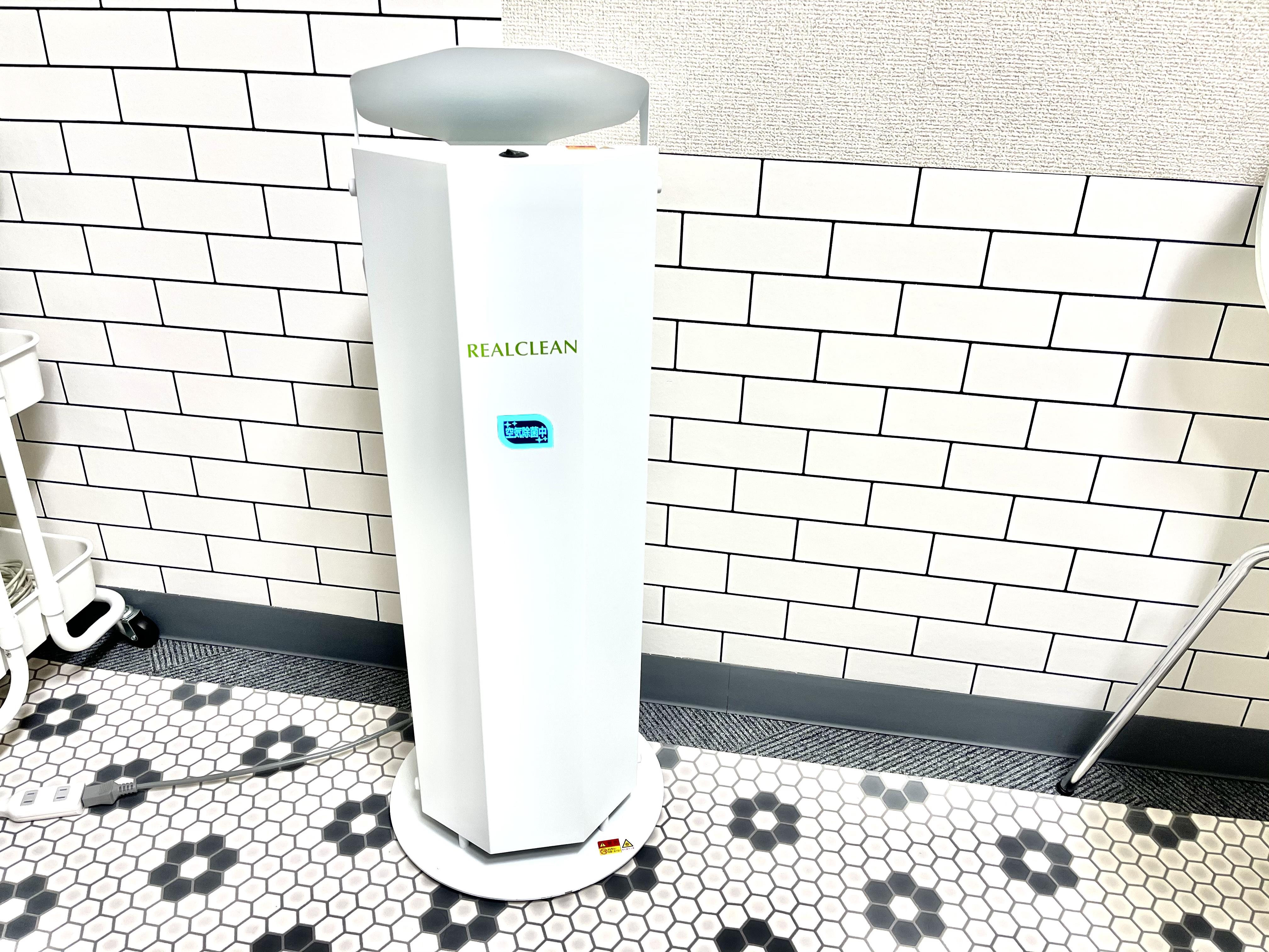 紫外線除菌の空気清浄機設置。 クリーンな空間を保ちます。 - トレーズ@名駅 レンタルサロン、レンタルスペースの室内の写真