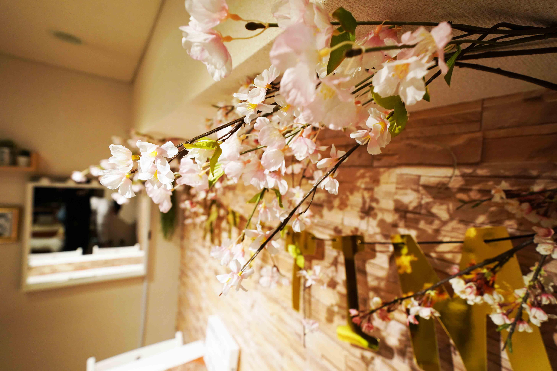今年も開催、桜装飾お花見〜 - 渋谷ひつじハウス プライベートスペース!パーティーの室内の写真