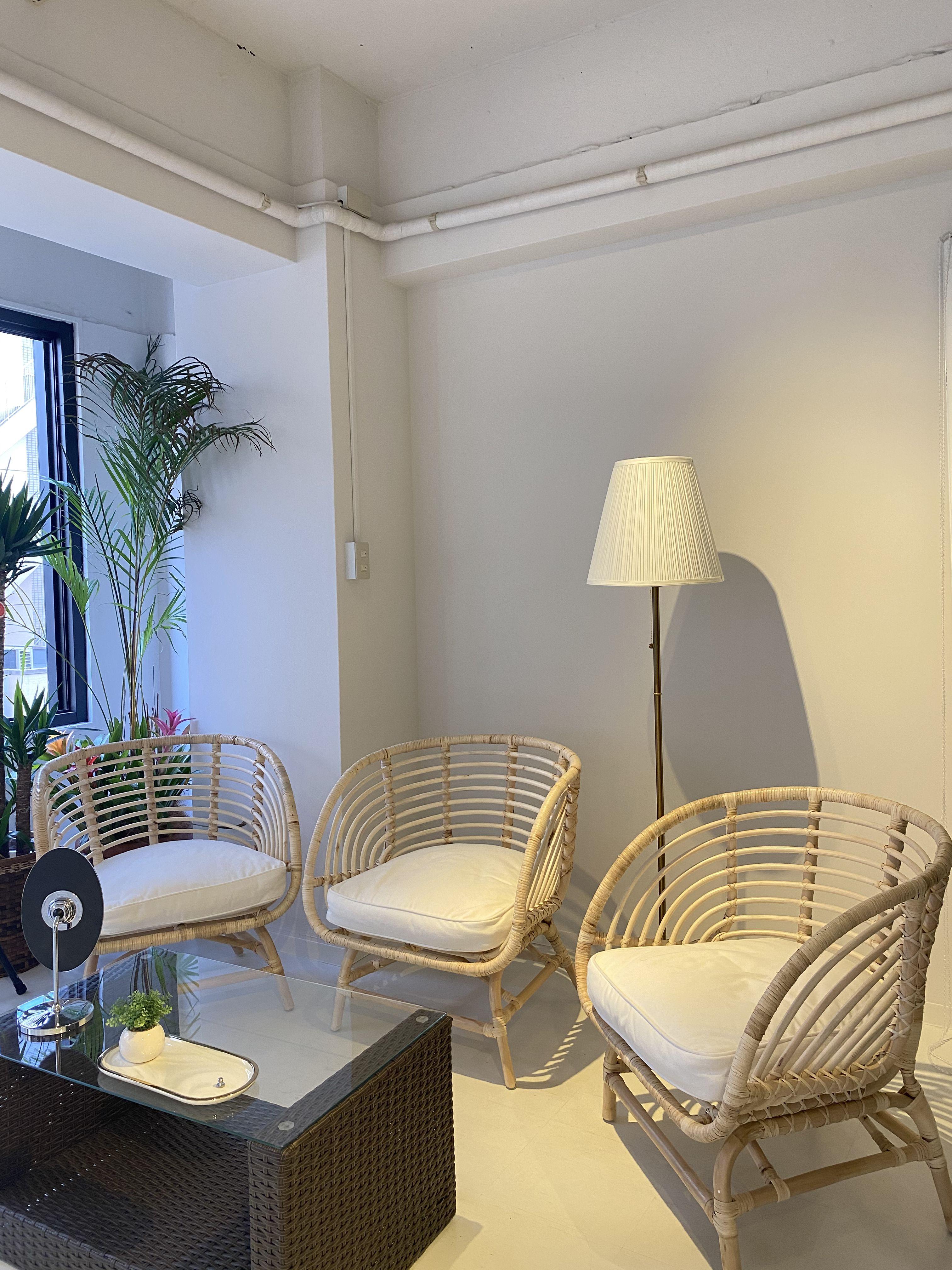 テラスぽい雰囲気でオシャレに撮影 - KIRKE(キルケ)スタジオ 個人撮影、料理撮影、会議室の室内の写真